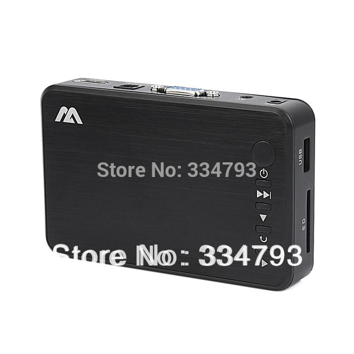 New Full HD 1080P USB External HDD Media Player with HDMI VGA SD Support MKV H.264 RMVB WMV Aluminum Shell .(China (Mainland))