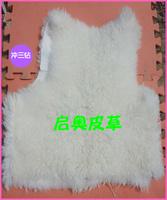 Genuine leather long wool vest liner caracule liner wool tube fur leather vest male Women