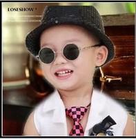Vintage circle child sunglasses round glasses prince's mirror sunglasses round box child mirror sunglasses