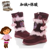Free shipping!hotsale!winter children snowboots/girl cute warm boots/ fashion dora snow boots for kids brand designer dora shoes