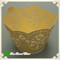 Wolesale 100pcs Yellow Great cupcake wrappers for Weddings,Cupcake Wrappers,Cake decorating,wholesale cupcake boxes!!