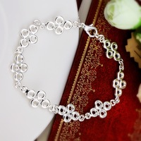 Wholesale Fashion Jewelry, H337 High Quality New Arrival 925 Silver Elegant Chain Bangles(Min order $10 is Mixed Order)