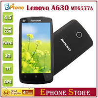 "On Sale Original Lenovo A630 4.5"" Support Multiple Language Android 4.0 MTK6577 Dual Core RAM 512 ROM 4GB Dual SIM Card Z#"