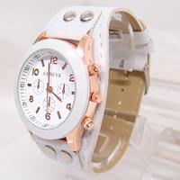 TOP sale Watches For women girls Leather Strap Sharp color vogue Brand noble Quartz Analog wrist Watch Women dress Wristwatches