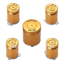 Liga de ouro ABXY com o guia botão 9 mm estilo bala para XBox 360 controlador(Hong Kong)