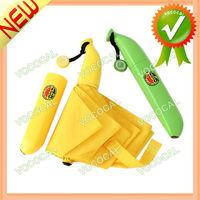 Novelty Outdoor Fashion Gift Banana Shape Folding Sun And Rain Umbrella, Free Shipping, Dropshipping