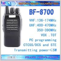 5W Handheld Transceiver Beifeng Two Way Radio VHF/UHF Dual-band Transceiver  BF-8700  Free Shipping
