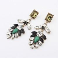 Min.order is $15(mix order)Wholesale New arrival jewelry,Alloy leaves VINTAGE EARRINGS,Stud Earrings