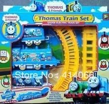 Thomas train electric eight rail cars 8 tracks(China (Mainland))
