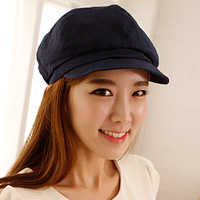 Summer beret women's short brim cap houndstooth pattern cloth hat mz414