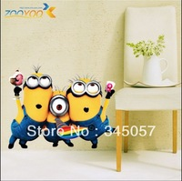 Free Shipping2013 New Design Despicable Me 2 Minion Movie Decal Removable Wall Sticker Home Decor Art Kids /Nursery Loving Gift