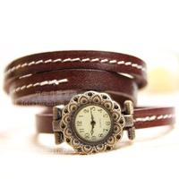 Free shipping 2013 European/American fashion design watches restoring ancient ways,16 cm long leather strap HOT SALE.