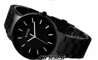 SINOBI New Fashion Men's Stainless Steel Wrist Watch Quartz Black-Black WTH0035