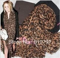 2013 Leopard scarf Cotton Linen high quality women's stole,brand designer scarf