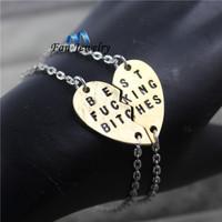 2015 new style broken heart 2 parts bracelet best friends charm DMV177