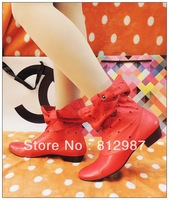 Free Shipping 2013 Fashion Women's Brilliant Chic Red Cut-outs Calf Boots/Fashion Boots/Martin Boots