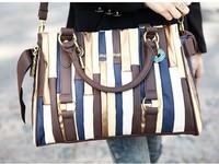 2014 new women fashionable splicing bags bowknot handbag messenger waterproof motorcycle bag Imitation suede shoulder bags