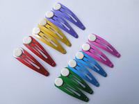 100pcs fashion bow hair clip capture Iron Baby clip hair accessories hairpin DIY accessories