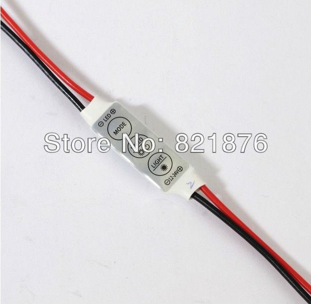 12V Mini 3 Keys Single Color LED Controller Brightness Dimmer for led 3528 5050 strip light Free shipping(China (Mainland))