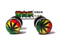 Jamaica hiphop hip-hop punk male Women acrylic stud earring
