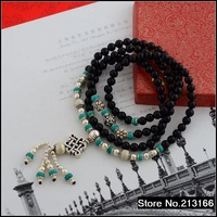 925 pure silver Thai silver  Natural black onyx. Female models bracelet sbl036447w