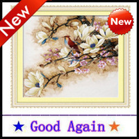 Cross Stitch 2013 new 100% accurate printing Europe and home decoration Free Delivery Gift Brands Magnolia Qing Yun 63*63 cm hot