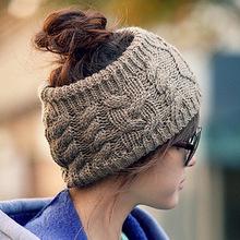 New 2014 Fashion Empty Hat for Women Headwear Designer Head Wraps Crochet Twist Flower Elastic Headbands Hair accessories(China (Mainland))