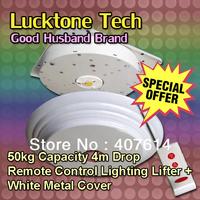 Chandelier Lift Remote-controlled Lighting Lifter Chandelier Hoist Light Lift DDJ50-4 (50kg Capability 4m drop 110--240V)