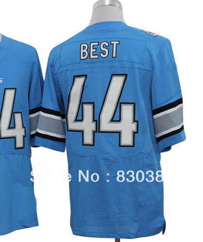 Drop Ship 2013 Fashion Men's Cheap RB #44 Jahvid Best White Blue Jersey,American Rugby Elite Football Sports wear Shirts stitch(China (Mainland))