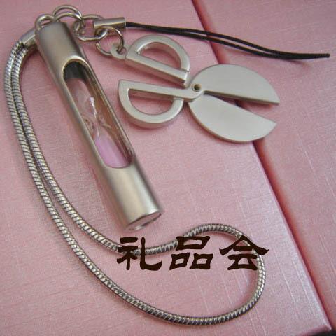 China Wholesale Cheap Hot Economic Hourglass mobile phone chain mobile phone pendant(China (Mainland))