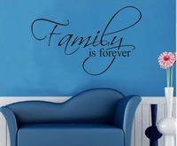 Family Is Forever vinyl wall art saying home decor Stickers Vinyl Wall Art Decals/Home Decor , free shipping ,10pc/lot