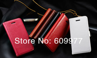 Crazy Horse Wallet Leather Case Cover With Card Holder Stand For iPhone 5C,Free Shipping
