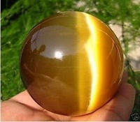 Hot Sell Asian Quartz Tiger Eye Crystal Healing Ball Magic Sphere 40MM