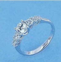 Sterling Silver & Stone Sets Beautiful Engagement Ring His Her Wedding Ring Sets Genuine 925 Sterling Silver Jewelry Diamond