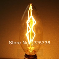 Free shipping C35 220v antique e14  pull tail edison bulb lights vintage pendant light bulb  incandescent  bubble bulb