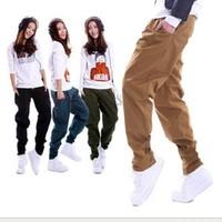 New Big Size Casual Loose Wide Leg Pants, Hip Hop Pants, Khaki Cargo Pants Women, Army Pants For Women,Pule Size S / M / L / XL