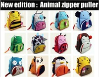 FREE SHIPING~New design animal zipper puller~Kids (age 3+) Zoo Pack Backpacks School Bags~Factory Cheap Discount Wholesale~