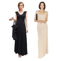 Tank dress summer cotton women's one-piece dress all-match basic skirt slim solid color full dress