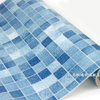 Fashion mosaic wallpaper Bathroom waterproof stickers oil tile wallpaper