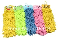 Free shipping 10pcs/lot Chenille fabric microfiber lovely animal cleaning towel, cartoon hand towels for children BathroomUse