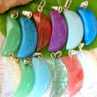 100pcs/Lot Free Shipping!!23X11MM Fashion Pendant-Nature Stone Pendant