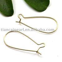 32mm Gold-plated copper Eearring Wire ,Eearring Hook ,Ear Wire ,Ear Hook