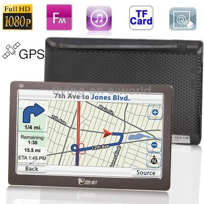 "HSD-X003 7"" Full HD 1080P TFT Touch Screen Car GPS Navigator with Rader Detector, TF Card Slots, FM Transmitter Hot Sale(China (Mainland))"