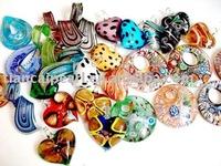 100pcs/Lot Free Shipping!!Mixed Stock Lampwork Murano Glass Pendant