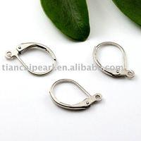 16*10mm Gold-plated copper Eearring Wire ,Eearring Hook ,Ear Wire ,Ear Hook