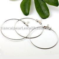 35mm Copper plating white K Eearring Wire ,Eearring Hook ,Ear Wire ,Ear Hook