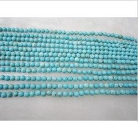 Free shipping!!wholesale AAA grade 8 MM turquoise bead Bracelet and Necklace