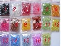 Free ship!!! NEW! 3000pcs Acryl crystal 6mm bicone Beads