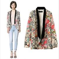 Free shipping 2013 New Women's Blazers Jacket,Brand Casual Fashion Flower Printed Women Suit Jacket,Long-Sleeved Women's Jacket