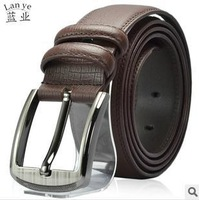 New Arrival! 2013 new fashion genuine leather belts black buckle belt real leather belts Free shipping
